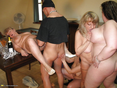 Lucky son fucks five old not his moms and grannies PART 1